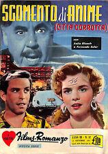 """[414] I VOSTRI FILM ROMANZO ed. Nova 1957 n.  52 """"Sgomento di anime"""" stato Buono"""
