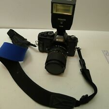 Ricoh KR-5III 35mm Film Camera with RKN Zoom Lens 1:3.5-4.8 35-70mm & Flash