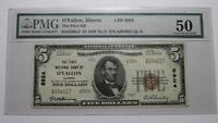 $5 1929 O'Fallon Illinois IL National Currency Bank Note Bill! Ch. #6924 AU50