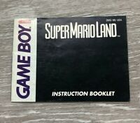 Super Mario Land Nintendo Game Boy Instruction Manual Booklet