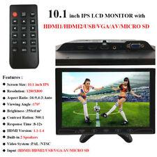 "Mini 10.1"" IPS CCTV PC Monitor HD 1280*800 Screen HDMI1/HDMI2/VGA/USB/MicroSD/AV"