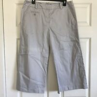 NWT Sandro Sportswear Womens Size 12 Gray Cropped Capri Career Casual Pants