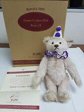 STEIFF TEDDY CLOWN 1926 LIMITED EDITION REPLICA 1999 ROSE 33 – BOXED - CERT