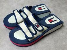 Rare Vintage 90s Tommy Hilfiger Wedge Womens Slip On Sandals Arizona Splits