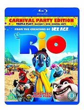 Rio - Triple Play (Blu-ray + DVD + Digital Copy) - DVD  & Blu Ray FACTORY SEALED