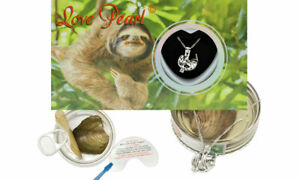 Sloth Cage Pendant Love Wish Pearl Kit Cultured Pearl Oyster Necklace Kit