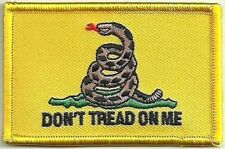 Gadsden Gasden Don't Tread On Me Snake Patch VELCRO® BRAND Hook Fastener Compati