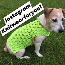 HandMade Jumper For Medium Size Dog 🐕As Jack Russell .Border Terrier Neon Gree