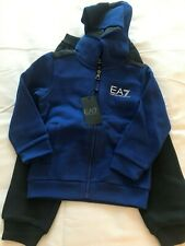 New with tags Boys EA7 Emporio Armani Tracksuit Blue & Black Age 4