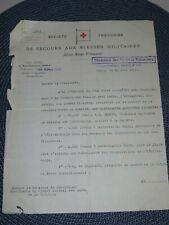 Document Croix-Rouge Française Secours aux blessés Militaires M de Montebello