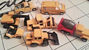 Lot de véhicules de chantier MAJORETTE
