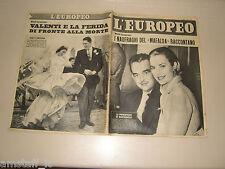 EUROPEO=1956/3=GRACE KELLY RANIERI DE MONACO COVER MAGAZINE=NAVE MAFALDA=