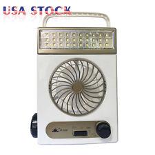 Mini Solar Rechargeable Fan Multi-function LED Light Table Lamp Flashlight