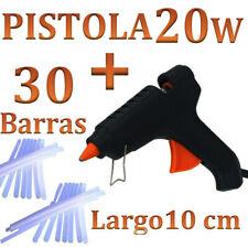 PISTOLA DE SILICONA 20W + 30 barras de 10cm CALIENTE  MANUALIDADES envío 24h