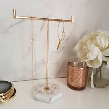 Marble & Gold Jewellery Tree Stand, Jewels by House of Aria