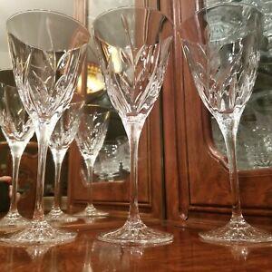 "3 Cristal d'Arques-Durand 8 1/4"" Tall Cassandra 5 Oz. Crystal Wine Glasses"