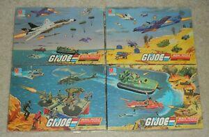 100% Complete Lot 1985 GI Joe 221 Piece Mural Puzzle Set Battles 1 2 3 4 in Box