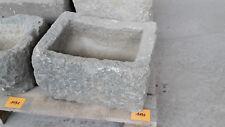 Alter Trog aus Granit 37 cm lang  Steintrog Granittrog G1190 Brunnen Waschbecken