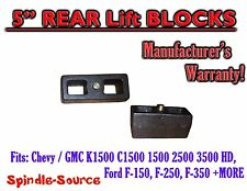 """1 Set Cast 5"""" TAPERED Lift Blocks Chevy GMC K C 1500 2500 3500 Ford F150 + MORE"""