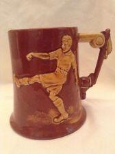 Vintage football céramique tankard estampillé dartmouth pottery post années 1950