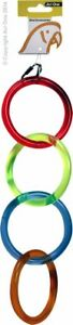 Avi One Parrot Bird Toy - 4 Acrlic Rings Multi Coloured 43cm in length.
