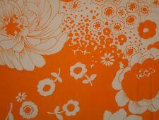 Retro Vintage Ava Orange Alexander Henry OOP HTF RETIRED Floral Flower White