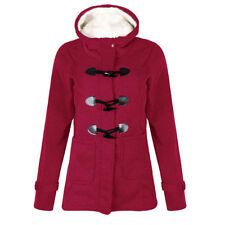 UK Womens Autumn Winter Hooded Coat Jacket Top Outwear Warm Sweatshirt Overcoat