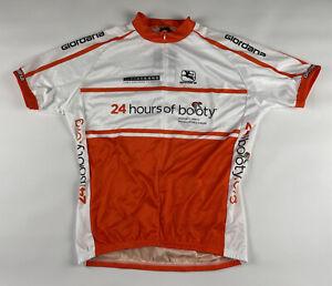 Giordana Mens Live Strong Cycling Jersey Short Sleeve Full Zip XXL White Orange