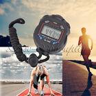 Digital LCD Stopwatch Running Sport Timer Counter Chronograph Stop Watch Alarm