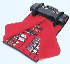 United Cutlery Knife Roll Rug 50-60 Knives Case Black w/ Red Felt Lining 1183