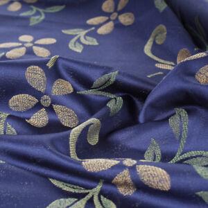 Tessuto Taglio 280x280 Raso Fantasia Margherite Blu Cuscini Tovaglie Arredo Casa