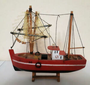 English fishing boat made of wood  in 1950