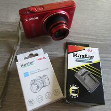 Canon SX610 HS Wi-Fi Power Shot Red Digital Camera 20.2 Mega Pix - Free Shipping