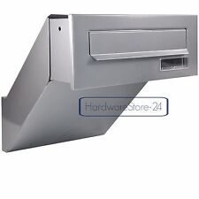 Mauerdurchwurf Briefkasten Farbe SILBER NEU Einbaubriefkasten