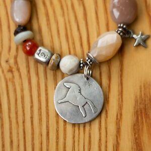 Jes Maharry Sun Horse Beaded Bracelet w/Gemstones & Sterling Charms Sundance