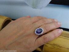 Echte Edelstein-Ringe im Band-Stil mit Amethyst für Damen