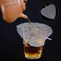 Metal leaves shape leakage kung fu tea infusers leaf tea filter accessoriesTWG
