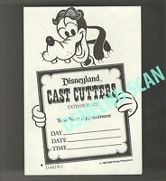 Disneyland Vintage Unused Cast Haircut Appointment Goofy Card dated 1982