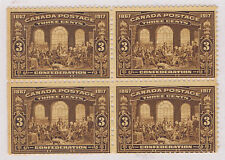 Canada #135(1) 1917 3 cent brown FATHERS OF CONFEDERATION OG MNH CV$480.00