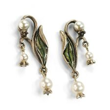 Sweet Romance Lily of the Valley Art Nouveau-Style Post Earrings ~Made in USA~