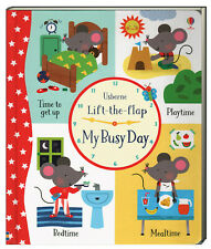 Usborne Lift The Flap My Busy Day by Holly Bathie (Board Book)