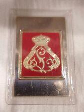 """"""" 1st Guides Regiment Belgium """" Sterling Silver Emblem"""