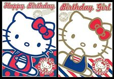 PACK OF 4 - Official HELLO KITTY Birthday Cards only 99p ( thats just 25p each)