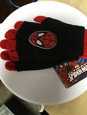 Marvel Ultimate Spiderman Boys Gloves Kids Winter New