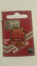 Queensland XXXX Maroons State of Origin NRL Team Logo Lapel Pin Metal Badge