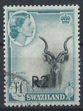 Swaziland Very Scarce O/P, Type 2 SG#77B Cat £275 (L44)