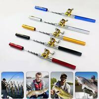 Fishing Rod Portable Mini Pocket Pen Shape Aluminum Fish Pole with Reel