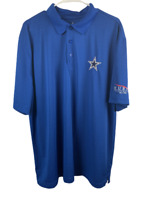 Dallas Cowboys Authentic Men's XL Polo Shirt Blue Hurst Electric Co Logo Texas
