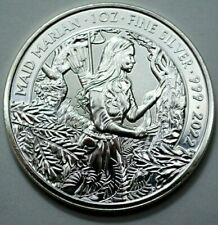 2022 Great Britain 1 oz 999 Silver Coin Myths and Legends Maid Marian Round Rare