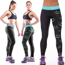 Women Yoga Gym Pants 3D Chic Leggings Fitness Jogging Stretchy Trousers Skinny